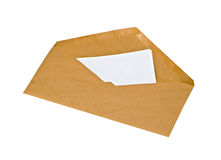 Envelope with letter Stock Image