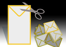 Envelope letter Stock Images