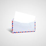 Envelope letter. With the Red and blue envelope edge royalty free stock photos