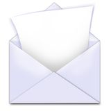 Envelope letter copy space Stock Photography