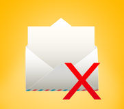 Envelope with letter. DELETED. Envelope with letter on a yellow background Royalty Free Stock Images
