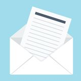 Envelope with letter Royalty Free Stock Image
