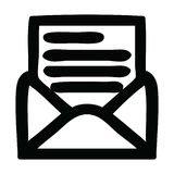 Envelope letter icon. A creative illustrated envelope letter icon image vector illustration
