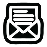 Envelope letter icon. A creative illustrated envelope letter icon image royalty free illustration