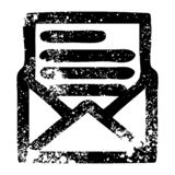 Envelope letter icon. A creative illustrated envelope letter icon image stock illustration