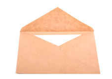 Envelope with a letter isolated. On white background with clipping path Stock Photo