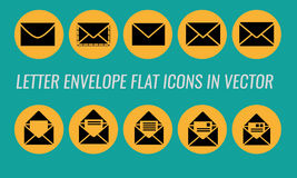 Envelope, letter, mail flat icon Royalty Free Stock Photography
