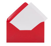 Envelope with letter-paper and clipping path Royalty Free Stock Images