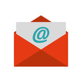 Envelope letter paper isolated icon Royalty Free Stock Image