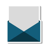 Envelope letter paper isolated icon. Vector illustration design stock illustration
