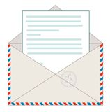 Envelope with a letter, vector illustration Stock Photos