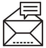 Envelope line isolated vector icon can be easily modified and edit stock photography