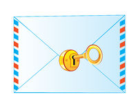 Envelope on lock Royalty Free Stock Photography
