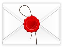 Envelope love stamp royalty free illustration