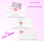 Envelope - love theme Royalty Free Stock Image