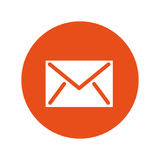 Envelope mail flat icon Royalty Free Stock Images