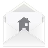Envelope mail house Stock Image