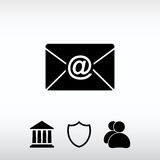 Envelope Mail icon, vector illustration. Flat design style Stock Photography
