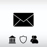 Envelope Mail icon, vector illustration. Flat design style Royalty Free Stock Images
