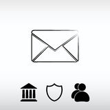 Envelope Mail icon, vector illustration. Flat design style Stock Images
