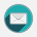 Envelope Mail icon, vector Isolated illustration. Mobile Icon. Flat  design style. Email message graphic design. Mail outline symbol for app Royalty Free Stock Photos