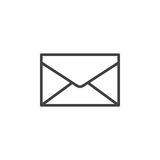 Envelope, mail, message line icon, outline vector sign, linear style pictogram isolated on white Stock Images