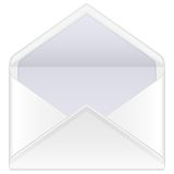 Envelope mail open Stock Photography