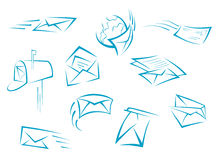Envelope and mail symbols Stock Photography
