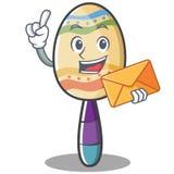 With envelope maracas character cartoon style Stock Photos