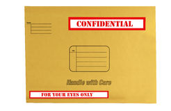 Envelope that is marked confidential Royalty Free Stock Image