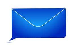 Envelope message bubble Royalty Free Stock Photo