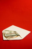 Envelope and money Stock Image