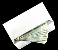 Envelope with the money Royalty Free Stock Photo