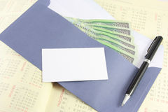 Envelope with money Royalty Free Stock Image
