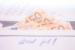 Envelope with money Royalty Free Stock Photos