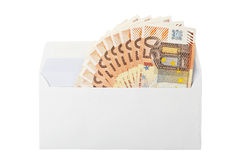 Envelope with money Royalty Free Stock Images