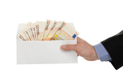 Envelope with money Stock Image