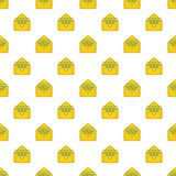 Envelope with money pattern, cartoon style Royalty Free Stock Photo
