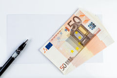 Envelope and money!. Envelope and money ready to be delivered Royalty Free Stock Images