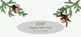 Envelope with monkeys Stock Photo