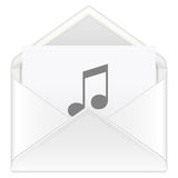 Envelope music Royalty Free Stock Image