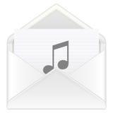 Envelope music vector illustration