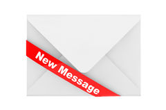 Envelope with New Message Sign Stock Image