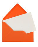 Envelope and note stock photography