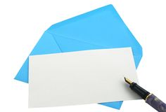 Envelope and note Royalty Free Stock Photo