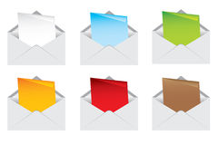 Envelope and note color Stock Images