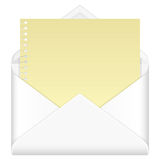 Envelope and notepad Royalty Free Stock Image