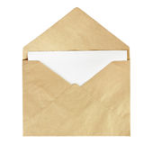 Envelope. Old envelope isolated on a white background Royalty Free Stock Images