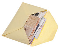 Envelope of Old Photos Royalty Free Stock Photography