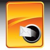 Envelope on orange background. Orange backdrop with an envelope Royalty Free Stock Images